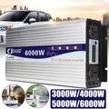 Omvormer 12V 220V Intelligente Transformator Pure Sinus Solar Power Inverter 12 V/24 V 220V 3000 W/4000 W/5000 W/6000 W