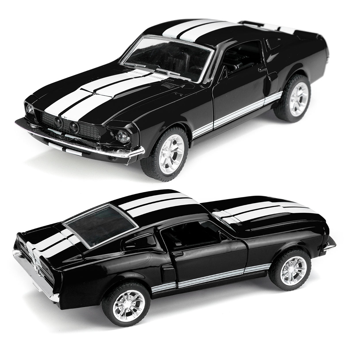 1:32 Diecasts Vehicle Car Toy Car Model Pull Back For Children Pull Back Models  Boy Kids Gifts For Ford Mustang GT 1967 GT500