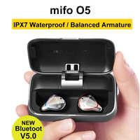 Стереонаушники без проводов Mifo O5, Bluetooth 5.0, сбалансированные спортивные наушники со стереозвуком, наушники для телефона с зарядной станцией