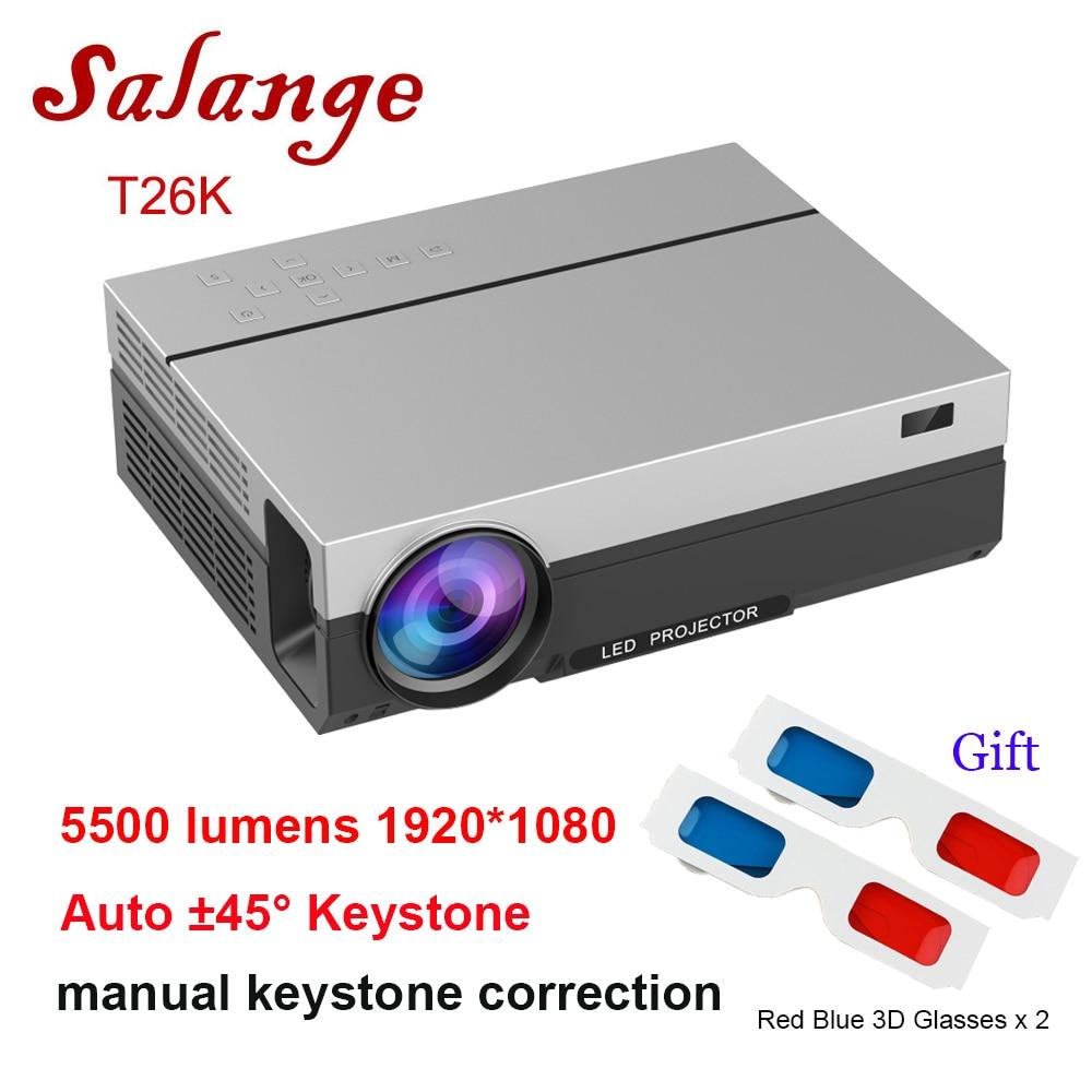 Salange T26K FULL HD Projector,Native 1920x1080,5500 Lumens LED Projector,Home Theater,HDMI VGA USB,1080P Movie Beamer Проектор