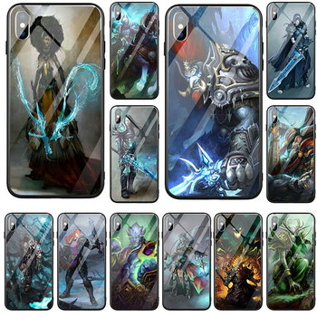 Tempered Glass Mobile Phone Cases Bags for iPhone 5 5S SE X XR XS Max 7 6 6s 8 Plus Shell World Of Warcrafts Lich King Stormrage image