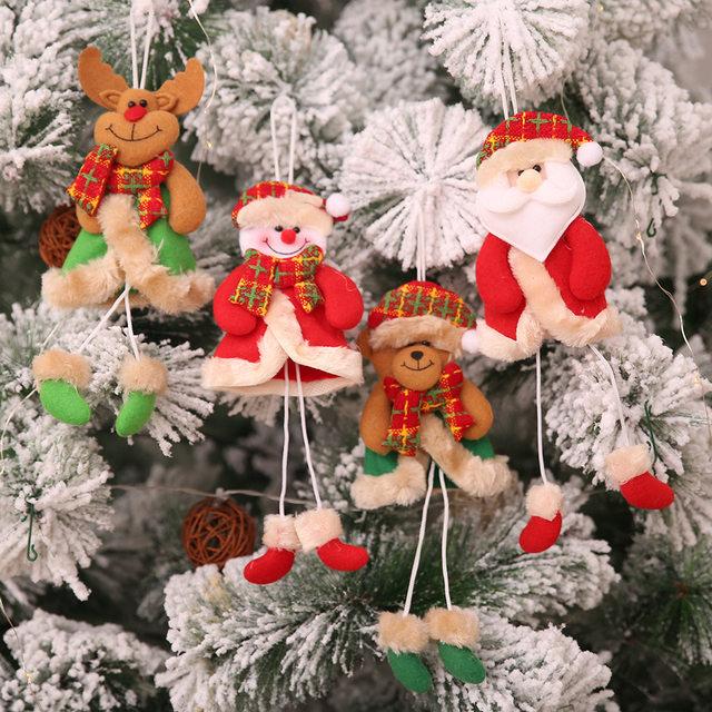 New Year 2020 Cute Santa Claus/Snowman/Angel Christmas Dolls Noel Christmas Tree Decoration for Home Xmas Navidad 2019 Kids Gift 25