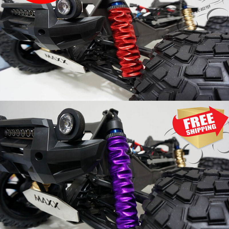 Shock absorber dust cover waterproof cap shield for Traxxas 77086-4 X-MAXX XMAXX red/black/blue/purple/golden color