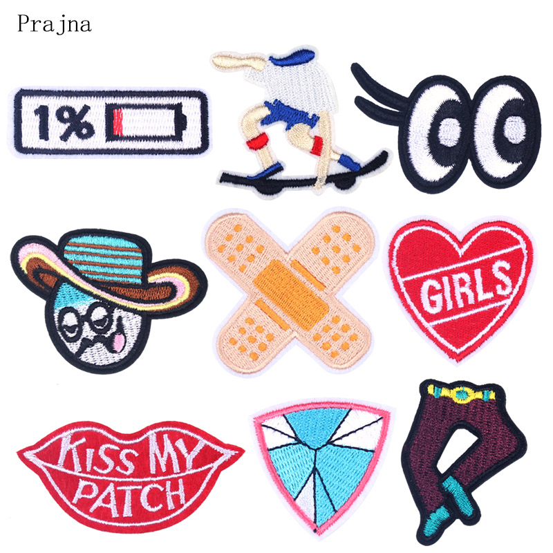 Power Display Patch Star Embroidered Patches For Clothing Iron Patches On Clothes Stripes Sewing Eye Patch DIY Sticker Accessory in Patches from Home Garden
