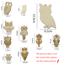 Bird Wood-Chips Laser-Cut Art-Decorations Animal Handmade for Scrapbook DIY 10pcs/Lot