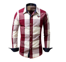 ZOGAA 2019 Spring Autumn Men Fashion Brand Dyed Plaid Cotton Shirt Mens Long-sleeved Casual Thick Hot Sale