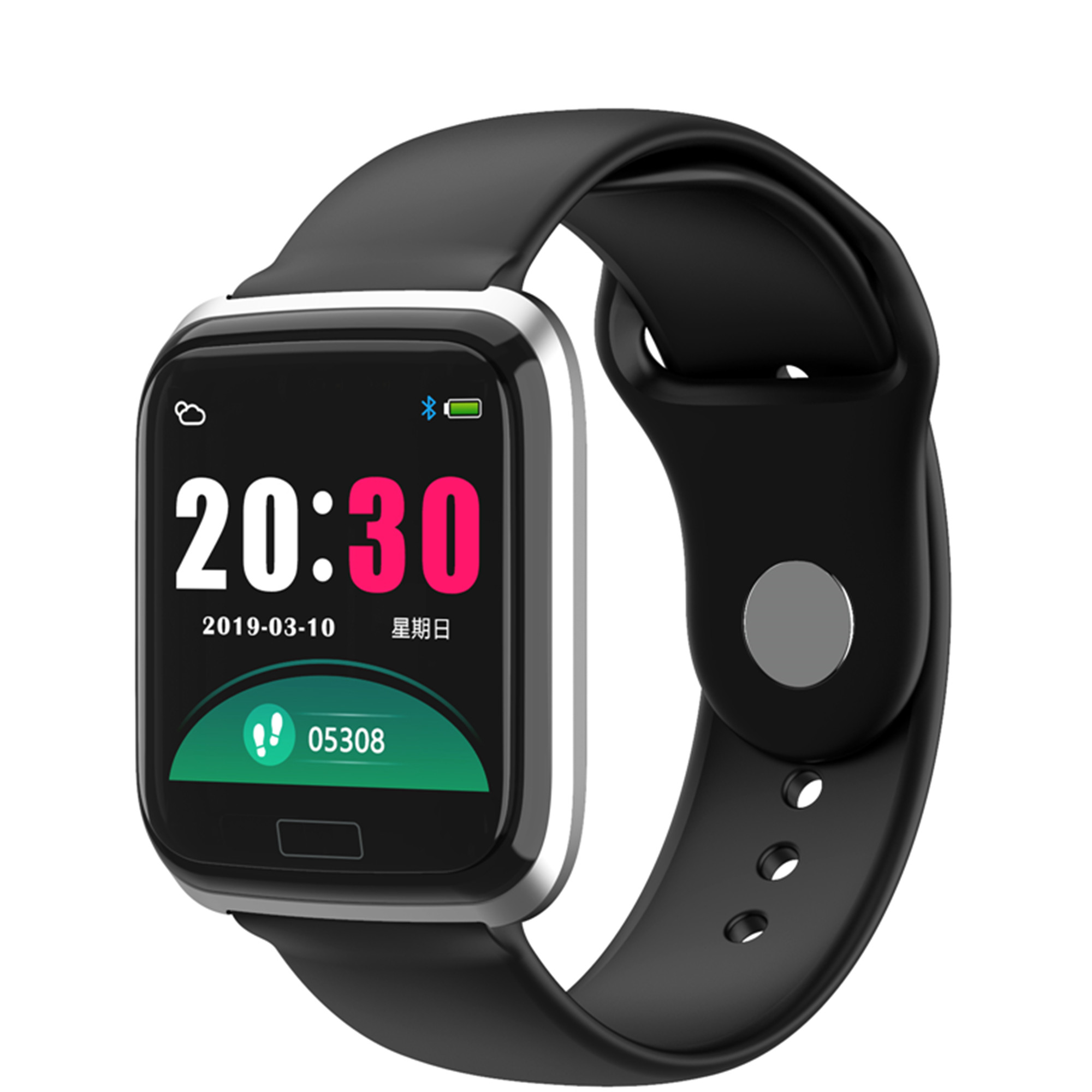 CY05 Smart Watch Color Screen Sports Waterproof With Heart Rate Blood Pressure Health Step Remote Monitoring Bracelet PK B57
