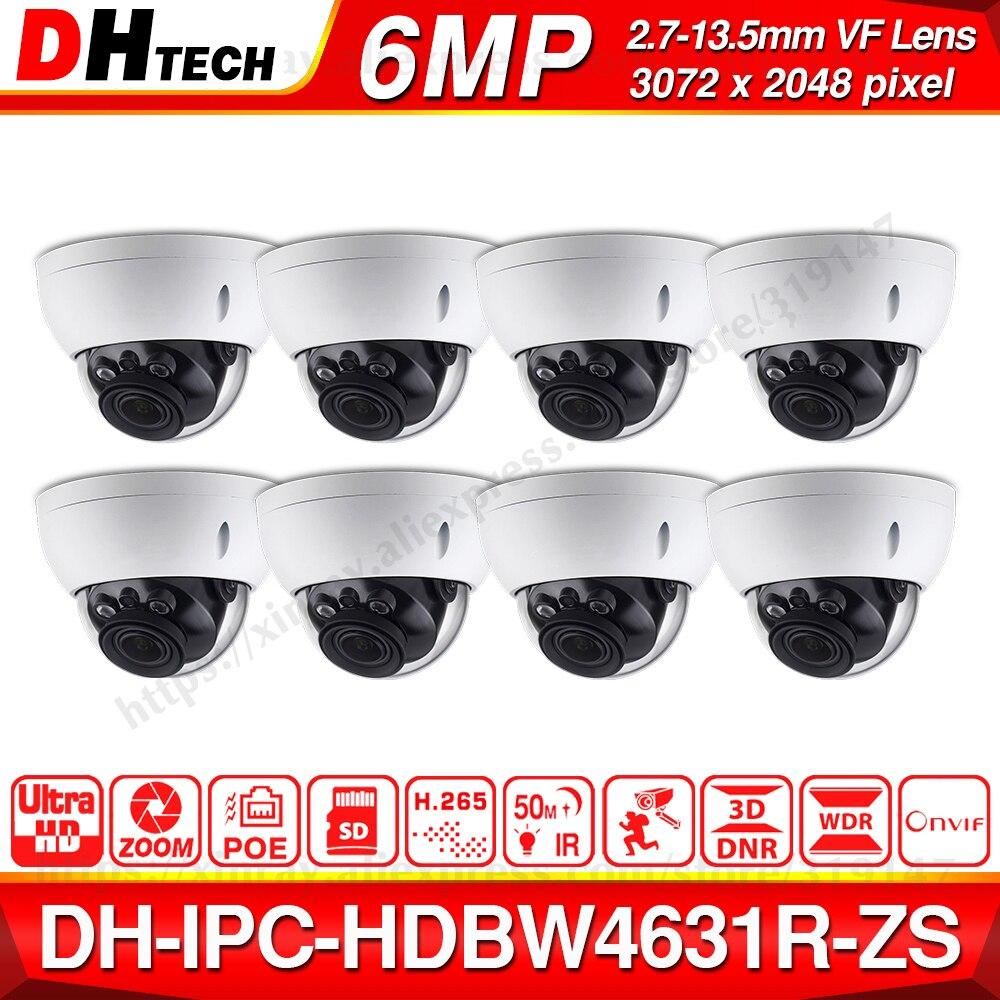 Wholesale DH Motorized Zoom Camera IPC-HDBW4631R-ZS Day Night CCTV IP Camera 30M IR Vari-Focus Network Camera H.265 6mp 8pcs/lot