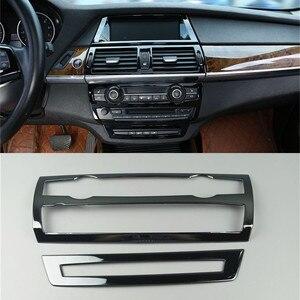 Автомобильная центральная консоль CD панель Накладка для BMW X5 E70 X6 E71 аксессуары для интерьера вентиляционные отверстия декоративные рамки п...