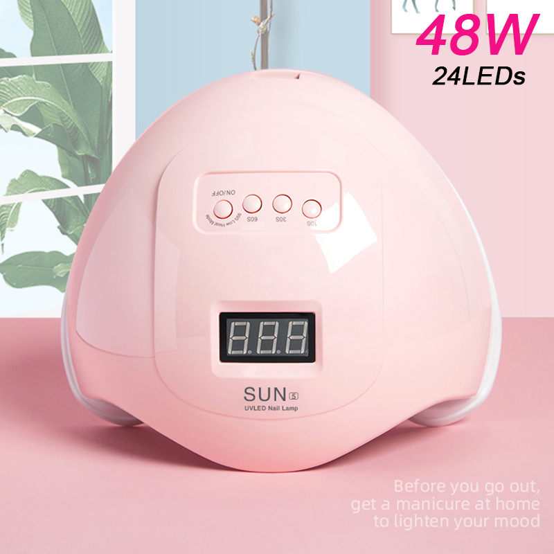 Nail Polish 48W Ultraviolet LED Nail Polish Gel Lamp Nail Polish 30S / 60S / 99S Timed Light Nail Polish for Dry Nail Art Tools