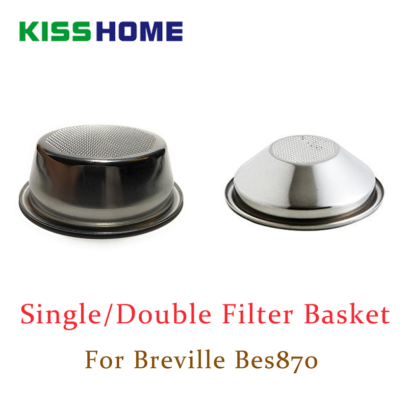 54mm Single/Double Layers Filter Basket For Breville Bes870 Coffee Machine Universal Powder Bowl Semi-automatic Coffee Accessory
