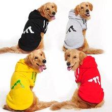 Зимняя теплая одежда для больших собак толстовка пальто adidog