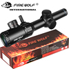 1-4x20 Rifle scope Green Red Illuminated Riflescope Range Finder Reticle Caza Rifle scope Air Rifle optical Sight Hunting 1