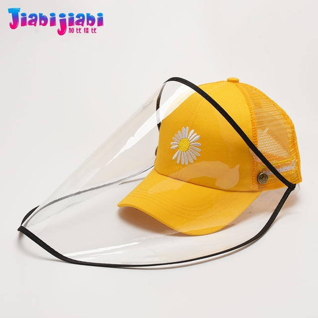 Summer Kids Hat Mask For Anti Virus Face Shield Anti Spitting Protective Facial woman female Boys Girls Sun Visor Hat 3-12 Old