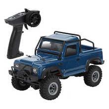 D1RC Hobby Plus New Mini CR24 1/24 4WD 2.4G Mini RC Car Crawler Model Vehicle Simulation RTR Car Model (Dark Blue)
