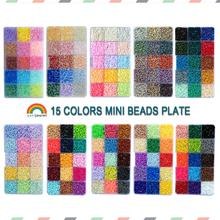 Yantjoued 15color 650PCS 10 choose 2.6mm mini beads Hama Beads High Quality Puzzle Toy Gift For Child DIY hobbies