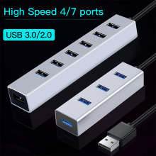 OFCCOM Hub USB Multi 3.0 Hub USB Splitter High Speed 4/7 Port All In One For PC Windows Macbook Computer Accessories