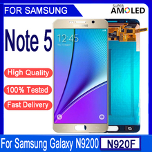 5.7''ORIGINAL LCD For SAMSUNG Galaxy Note5 N920A N9200 SM-N920 N920C LCD Display Touch Screen Digitizer Replacement With frame