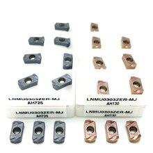 LNMU0303ZER Herramienta de fresado de metal duro endurecido, MJ AH725 AH130, de doble cara, de alimentación rápida, herramienta de fresado