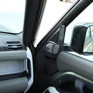Image 4 - لاند روفر المدافع 110 2020 2021 ABS ألياف الكربون باب السيارة بوق عمود الديكور ملصقات غطاء اكسسوارات السيارات