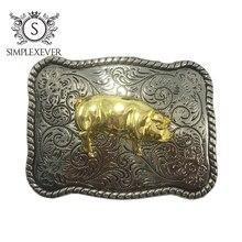 Горячая мода диких пряжки серебряные пряжки свинья хорошее покрытие подходит для 4 см ширина
