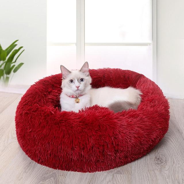 Fluffy Warm Kitten Sleeper Cat Beds 3