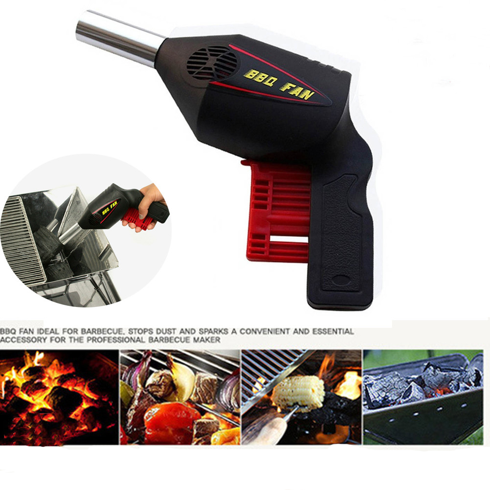 BBQ Fire Fun Air Blower Cooking Fan Grill Charcoal Outdoor Camping