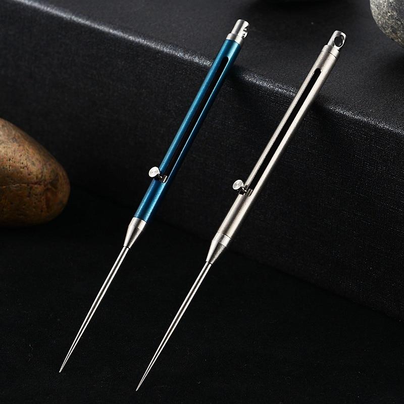 Titanium Alloy Toothpick With Toothpick Holder Ultra Light Portable Multi-tool Fruit Fork Rustproof Survival  EDC Tools