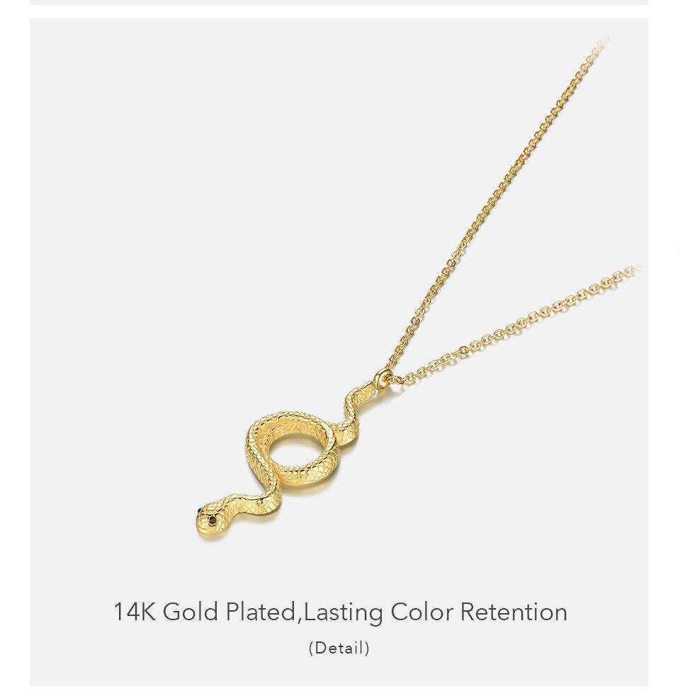 Enfashion cobra pingente colar feminino aço inoxidável