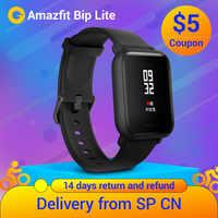 Amazfit Bip Lite Huami smart watch lekki Bluetooth Monitor pracy serca 45 dni pracy na baterii 3ATM wodoodporna