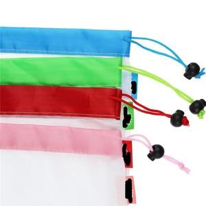 Image 3 - Sacs réutilisables pour fruits et légumes, lavables, sacs en mailles écologiques pour épicerie, rangement de jouets pour fruits et légumes, 1 unité