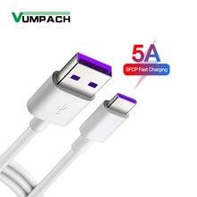 Câble USB 3.1 5a Type C pour recharge rapide, cordon de chargeur Original pour téléphone Huawei P30 P20 Pro lite mate 20 10 Pro P10 Plus lite