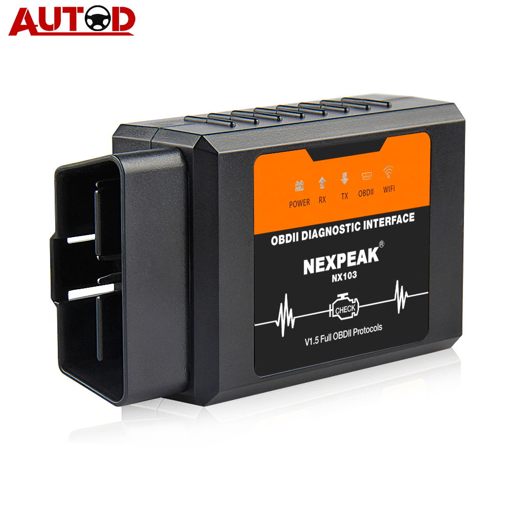 ELM327 1.5V OBD2 Scanner WIFI PIC18F25K80 ELM327 Car Diagnostic Tool For Android/IOS/iPhone/Windows ELM 327 OBD 2 Autoscanner