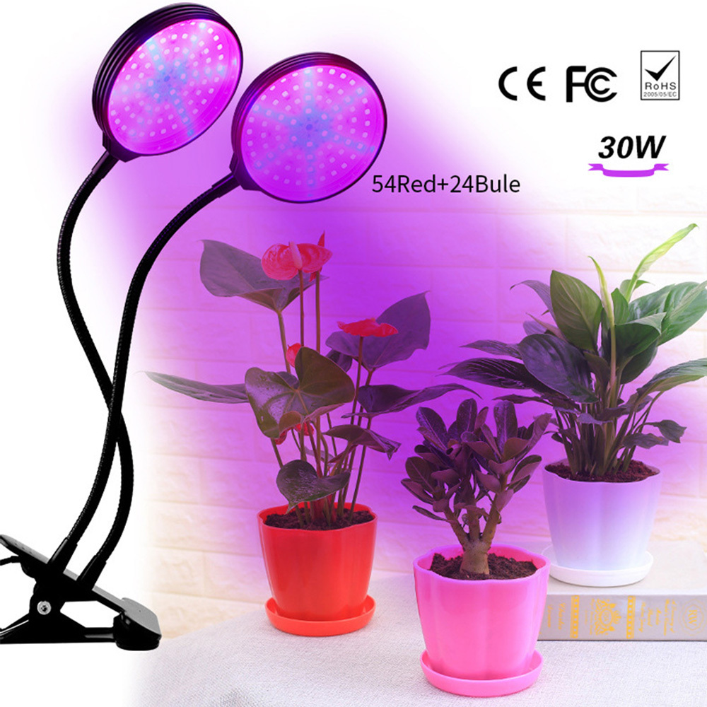 30W LED Phyto Flood Lights High Power Full Spectrum Dimming Timer LED Grow Light Hydroponic Seeding USB Power