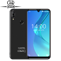 Перейти на Алиэкспресс и купить oukitel c16 android 9.0 5.71дюйм. hd+ waterdrop smartphone fingerprint mt6580p quad-core phones 2g ram 16g rom unlock mobile phone