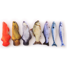 Cat-Toys Simulation Fish Pet Toy Catnip Cat-Toy Funny Cat Stick Stuffed Pillow Doll Soft Plush Kitty Cats