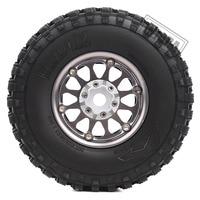 INJORA 4Pcs 1.9 Beadlock Wheel Rim Rubber Tire Set for 1/10 RC Crawler Traxxas TRX-4 Axial SCX10 90046 D90 Voodoo KLR 4