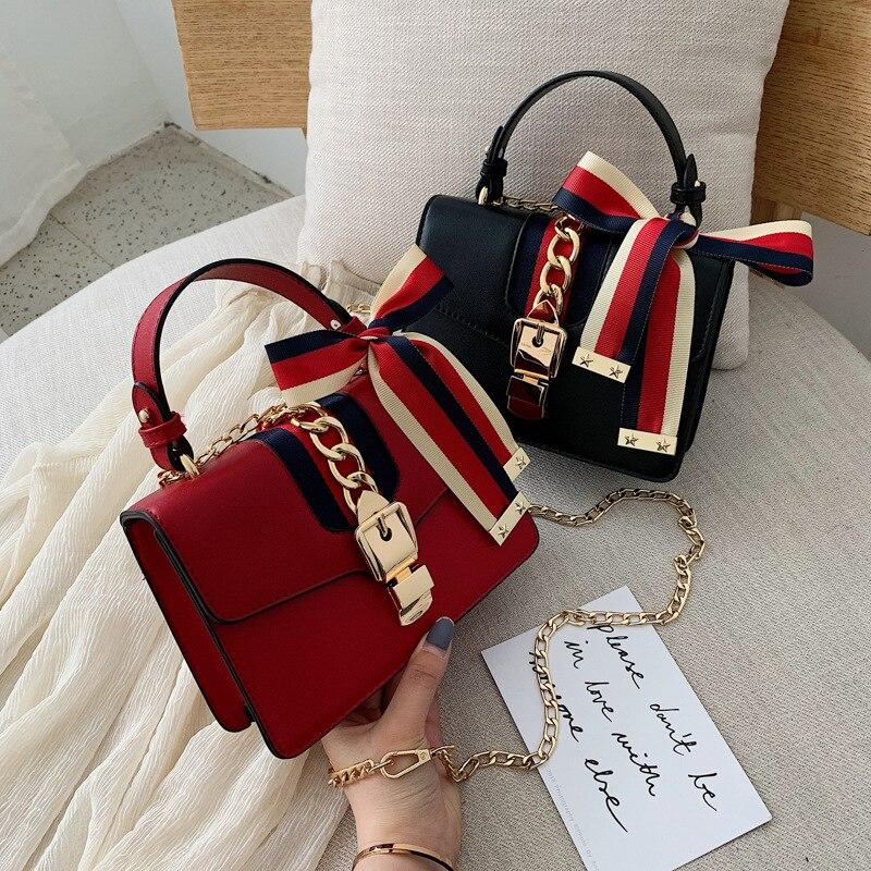 2019 New Fashion Handbag Autumn And Winter New Bag Female Fashion Casual Simple Chain Shoulder Slung Small Square Bag