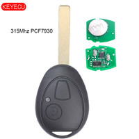 KEYECU Aftermarket Remote Head Key 315MHZ PCF7931AS for Mini Copper Land Rover 75 MG ZT 2002 2005