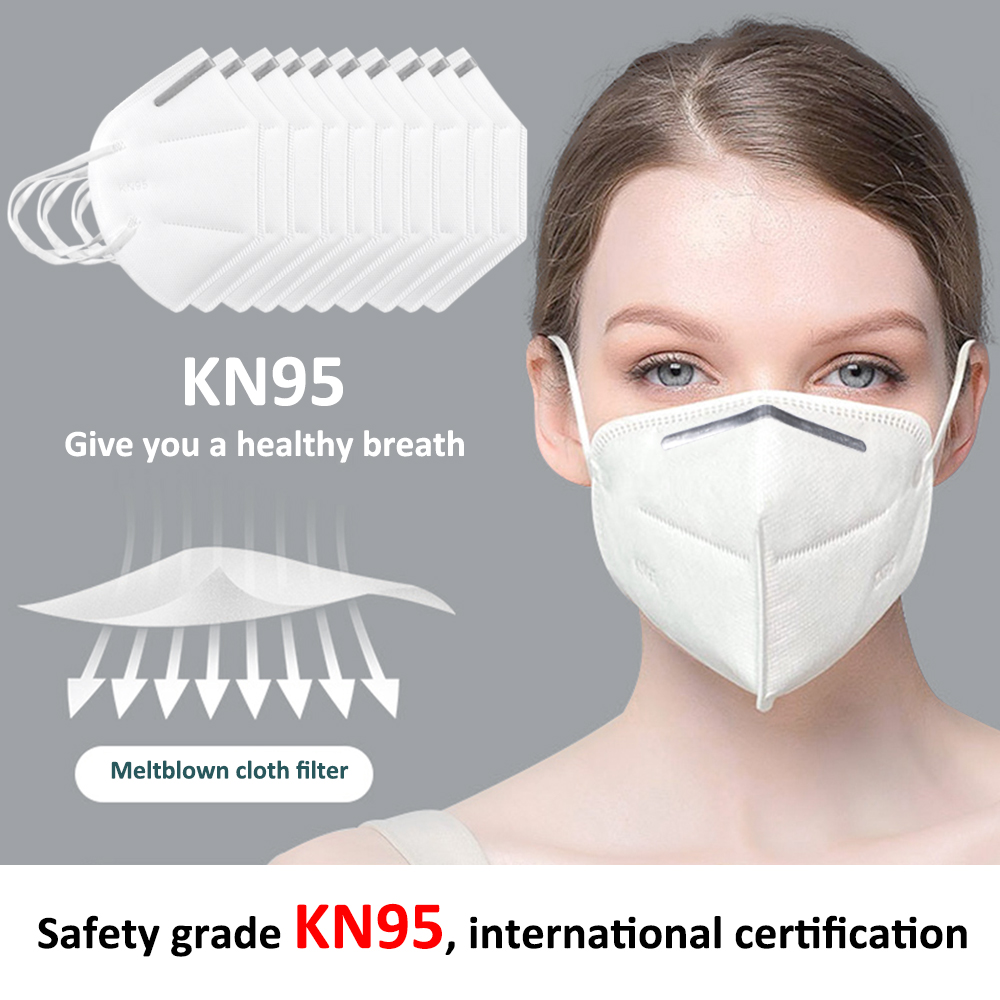 Reusable KN95 Mask - Valved Face Mask N95 Protection Face Mask FFP1 FFP2 FFP3 Mouth Cover Pm2.5 Dust Masks 5 Layers Filters