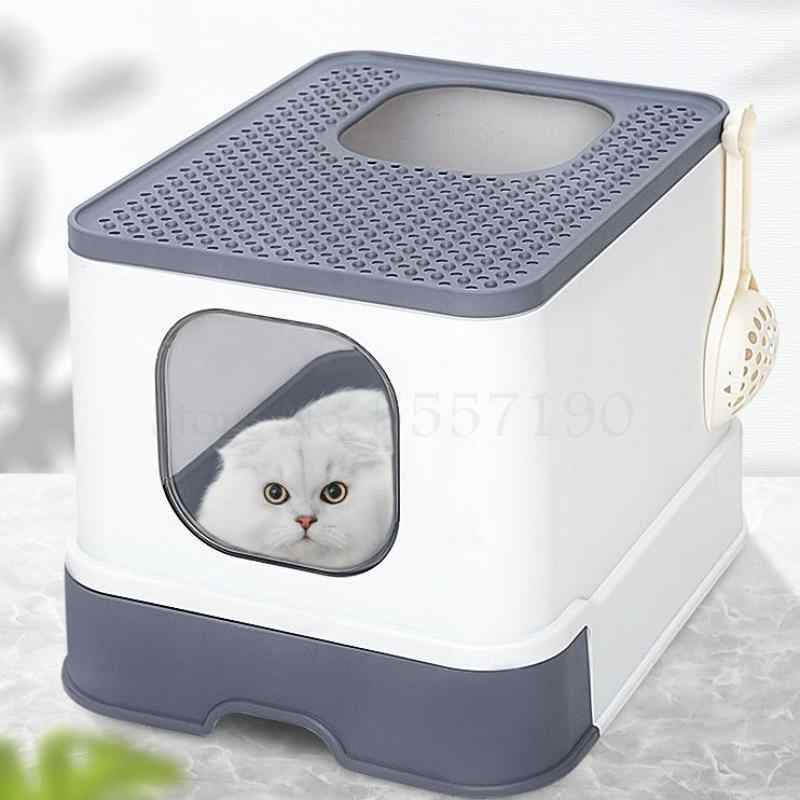 Fully Enclosed Cat Litter Box Large Anti-spatter Drawer Top Into Cat Toilet Deodorization Extra Large Oversized Cat Supplies