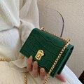 Мини-сумки через плечо с каменным узором для женщин 2020 маленькая сумка с цепочкой маленькая сумка из искусственной кожи ручная сумка женски...