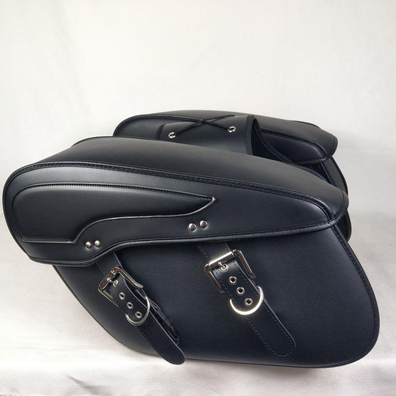 Пара мотоциклетных седел кожаная боковая багажная сумка для Honda Shadow для Vulcan 2006 для Yamaha Vstar для Sportster водонепроницаемая