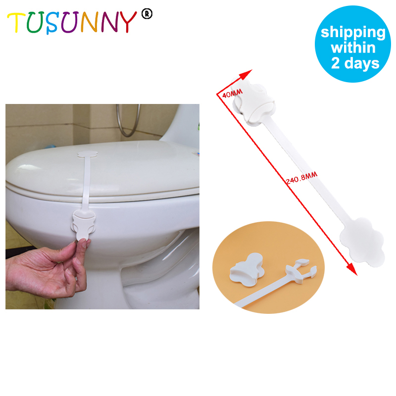 TUSUNNY 1PC Children Protection PP Safety Plastic Toilet Door Lock Baby Safety Toilet Locks Castle For Children 40*240.8mm