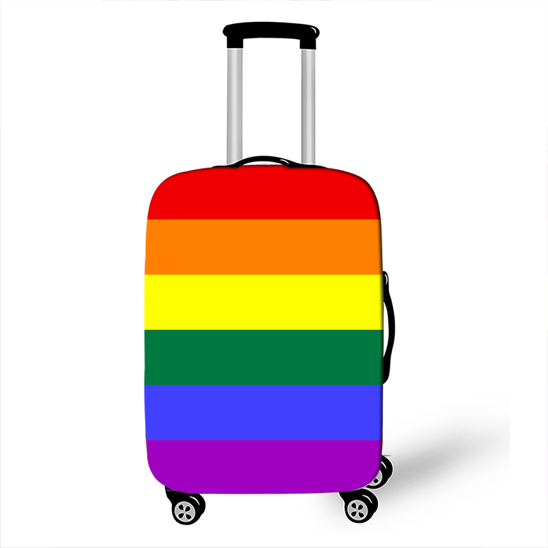 Lgbt Pride Rainbow Print Luggage Cover Lesbian Gay Suitcase Protective Covers For Travel Anti-dust Trolley Case Covers