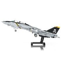Criador moc bloco de construção do miúdo militar lutador F-14Tomcat supersônico combate avião montagem modelo diy tijolo brinquedos das crianças