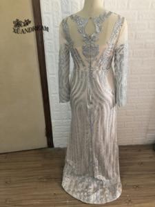 Image 3 - Formele Gown Voor Dinne Party Jurken Abiti Cerimonia Vestido Sereia Speciale Gelegenheid Gown Lange Mouwen Bling Bling Avondjurken