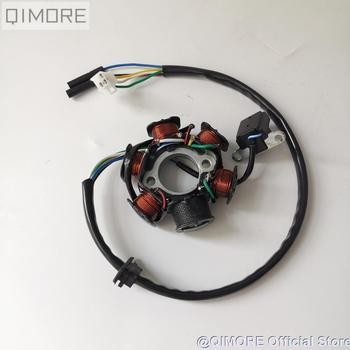 6 pole ( 6 Coil ) 5 wire AC fired magneto stator for Scooter Moped ATV QUAD GY6 125 GY6 150 152QMI 1P52QMI 157QMJ 1P57QMJ gy6 coil 80cc engine coil magneto motor stator gy6 50cc8 pole ac gy6 generator