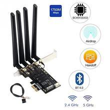 Двухдиапазонный bcm9360cd Hackintosh PC 1750 Мбит/с WiFi Bluetooth 4,0 PCI-E адаптер для macOS Airdrop Handoff непрерывность BCM94360 Wifi