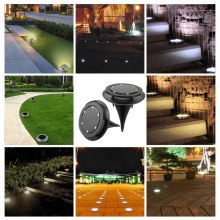 4 шт. открытый солнечный 10 светодиодный наземные лампы Водонепроницаемый Солнечный дисковый свет Солнечный Путь Gar задний двор светодиодный ночник садовая лампа